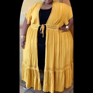 Mustard color cover up